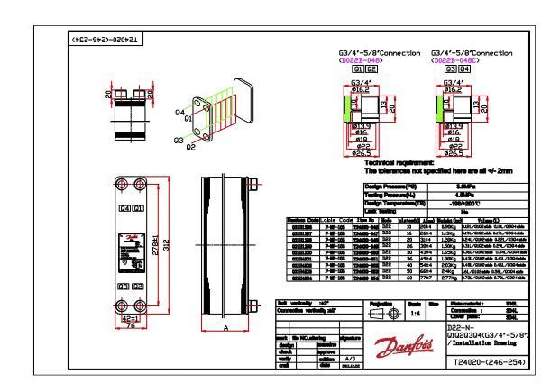 Теплообменник d22 danfoss Пластины теплообменника Tranter GX-060 P Нижний Тагил