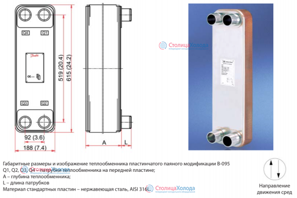Теплообменник пластинчатый b3-095-70-3, 0-h чертеж схема подключения аккумуляторного бака с двумя теплообменниками