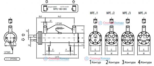 Кожухотрубный испаритель ONDA MPE 121 Минеральные Воды Кожухотрубный конденсатор Alfa Laval ACFL 180/207 Липецк