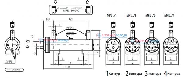 Кожухотрубный испаритель ONDA MPE 35 Минеральные Воды Пластины теплообменника SWEP (Росвеп) GL-205N Новотроицк